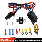 """3/8"""" 175~185 Electric Engine Fan Thermostat Temperature Relay Switch Sensor Kit"""