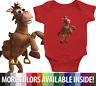Infant Baby Rib Bodysuit Jumpsuit Romper Toy Story Woody's Horse Friend Bullseye