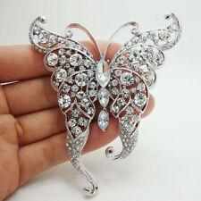 Crystal Brooch Fashion Clear Rhinestone Crystal Butterfly Insect Brooch