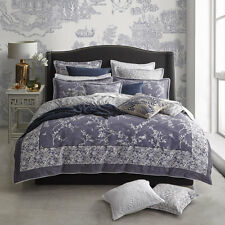 Florence Broadhurst Oriental Denim King Size Duvet Quilt Cover Set