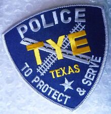 Patch-Blue TYE Texas Police To Protect & Serve Sew On Patch (NEW, apx.100x95 mm)