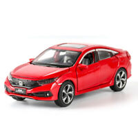 1:32 Scale Honda Civic Model Car Diecast Toy Vehicle Sound & Light Red Kids Gift