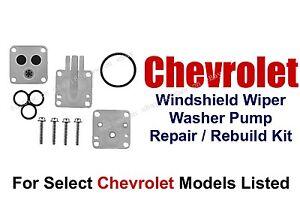Wiper Washer Pump Rebuild Repair Kit Select 1970-90 Chevrolet Models 11-101(C)