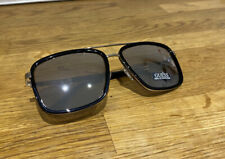 GUESS Unisex Black & Silver Tone Square Sunglasses