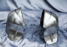 Armor Pauldrons combat besagews SCA LARP armor pauldrons Medieval Templar Harnes