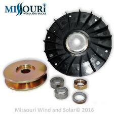 Fan AND 80 MM pulley 4 permanent magnet alternator generator pma pmg hydro Delco