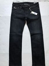 NEW $198 Diesel Viker Straight Jean Black Stretch ORUS3 Size 32x32 W32 L32