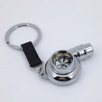24K//GOLD TURBO BEARING KEYCHAIN METAL KEY RING//CHAIN WHISTLE BOOSTED SPOOLING Q1