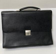 Levenger Pebbled Leather Briefcase Attache Business Laptop Case Vintage?