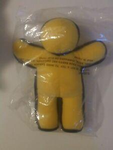 NIP plush AOL ICQ yellow running man