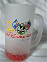 Vintage Walt Disney World 2000 Celebrate the Future Frosted & Etched Glass Mug