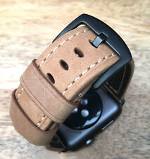Quality Vintage Tan Brown Leather Watch Strap Band for Apple Watch Series 2 42mm
