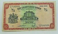 Km# 70c - 10 dollars 1962-70 - TTB  - Billet Hong-Kong - N7794
