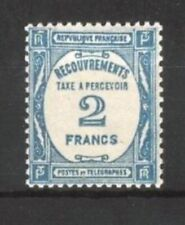"FRANCE STAMP TIMBRE TAXE YVERT ET TELLIER N° 61 "" 2F BLEU "" NEUF xx LUXE A151"