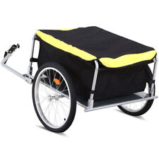 Steel Frame Bicycle Bike Cargo Trailer Luggage Cart Carrier For Shopping Garden