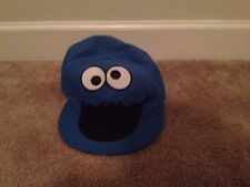 Sesame Street Cookie Monster Youth/Adult Hat Sz L/XL Fitted Cap Blue