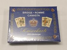 Kaiser Card - Royal Edition box set - Bridge - Rummy - Canasta - Made In Germany