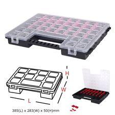 Plastic 27 Slot Adjustable Jewelry Tool Box Case Organizer Storage Beads 385mm