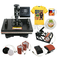 USED 6-1 COMBO HEAT PRESS T-SHIRT HAT CAP MUG DIGITAL TRANSFER SUBLIMATION MAC