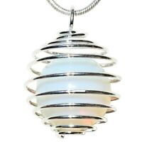 "CUTE 16mm Opalite Sphere Perfect Pendant™ + 20"" Silver Chain"