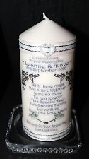 Cellini Candle Unique  Wedding Day Personalised candle gift present