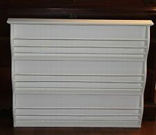 New!  Pottery Barn Kids Catalina Large/Double Antique White Magazine/Book Rack