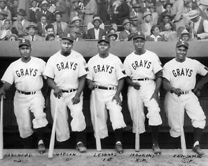 "Josh Gibson & Buck Leonard - 8"" x 10"" Photo- Negro Leagues Baseball- Grays"