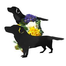 Labrador Retriever Dog Garden Planter Flower Pot Holder