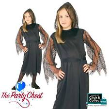 GIRLS GOTHIC LACE VAMPIRESS COSTUME Pretty Witch Vampire Fancy Dress Outfit 1906