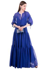 RRP €2625 MAISON RABIH KAYROUZ Maxi Tiered Dress Size 36 / XS-S Drawstring Waist