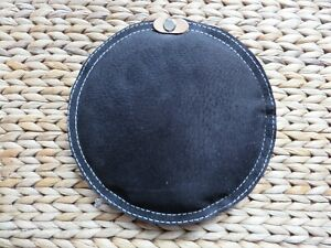 """JEWELLERS FINEST QUALITY BLACK LEATHER SANDBAG 6"""" (15CM) FILLED WITH SILVER SAND"""