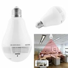 WIFI Camera Wireless IP Bulb Lamp Panoramic Home Security  Cam Motion Detection