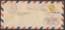 NICARAGUA 1948 OFFICIAL AIRMAIL COVER MANAGUA TO BOSTON MASSACHUSETTS USA