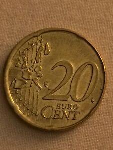 20 Cent 2002 F Neuve Allemagne Hors Virole..flans Étoilées,