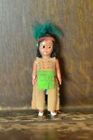 Fabulous VINTAGE Costume Doll of a Native American Boy 10cm Tall