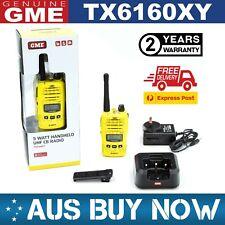 GME TX6160XY YELLOW UHF Two Way CB Radio 5 Watt Portable Handheld IP67 TX6160X