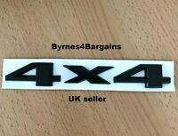 4 x 4 Four wheel drive Car sticker Logo black Emblem Badge 3 D Decals UK seller
