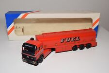 ± LION CAR MERCEDES BENZ POWERLINER TRUCK WITH TRAILER TANKER FUEL NM BOXED RARE