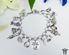 Mad as a Hatter! Alice in Wonderland Inspired Charm Bracelet
