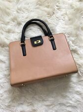 NWOT Vintage J Crew EDIE Attache Briefcase Satchel Bag in Two Tone Leather 21959