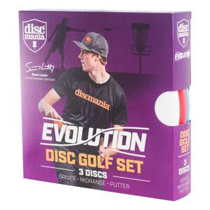 Discmania Evolution Disc Golf Set of 3 – Putter, Mid-Range, Driver (Assorted)