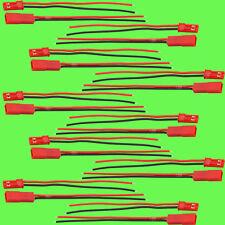 20 Pièces 10 Paires JST Connecteur 100 mm Câble 10 cm Douille Batterie/pile Lipo