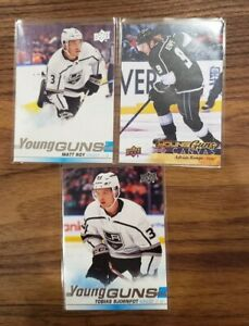 Los Angeles Kings Upper Deck Young Guns * Adrian Kempe Canvas, Bjornfoot, Roy RC