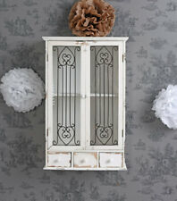 Wall Cabinet Display Case Hanging Shabby Chic Wardrobe Showcase Antique