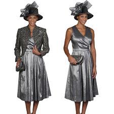 Women's 2pc Dress Suit Leopard Printed short Jacket w/ Solid Long Skirt L387