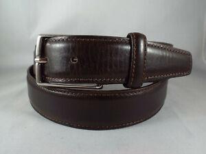 Ermenegildo Zegna Men's Espresso Brown Leather Belt  sz 36