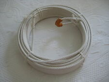 Cotton Lariat Rope Reata Soga- CR-10  111 ft 9 mm  dia., w/Leather Burner