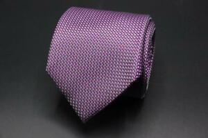 Current ERMENEGILDO ZEGNA Silk Tie. Purple Mini Geometric.