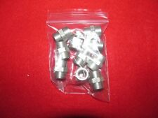 "Lot of 10 AN910-1C 1/8"" Stainless Steel pipe thread coupling."