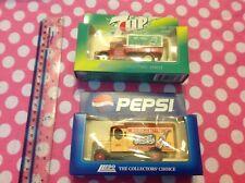 Bundle of 2 Lledo Promotional Soft Drink Vans  Die Cast - 7UP & PEPSI COLA